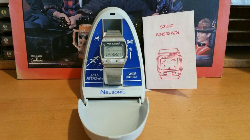 Nelsonic Space Attacker Game Watch Taken Apart Cleaned Works