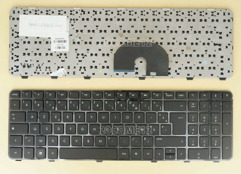 Details About NEW For HP Pavilion DV6 6000 6100 Keyboard French Clavier Frame Black