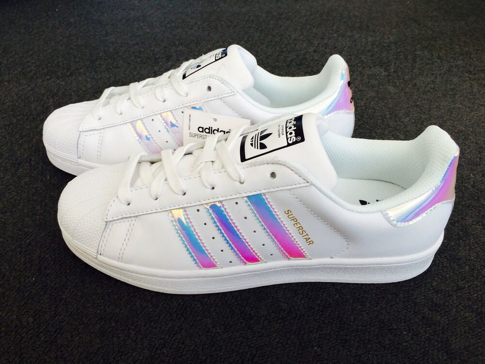 Adidas Originals Superstar Women's Trainers Iridescent UK ...