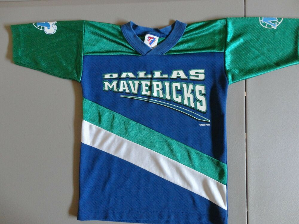 f6756c1f5f1 RARE Vintage TEAM RATED Dallas Mavericks Basketball NBA Jersey Youth M  (5-6)