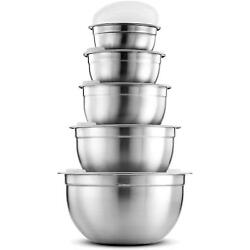 Kyпить Premium Stainless Steel Mixing Bowls With Airtight Lids Various Sizes (5 Piece)  на еВаy.соm