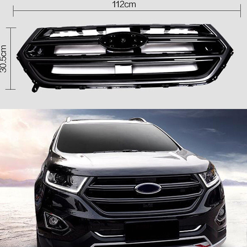 Black Front Grill Grille Sport Version With Camera Hole For Ford Edge   Ebay
