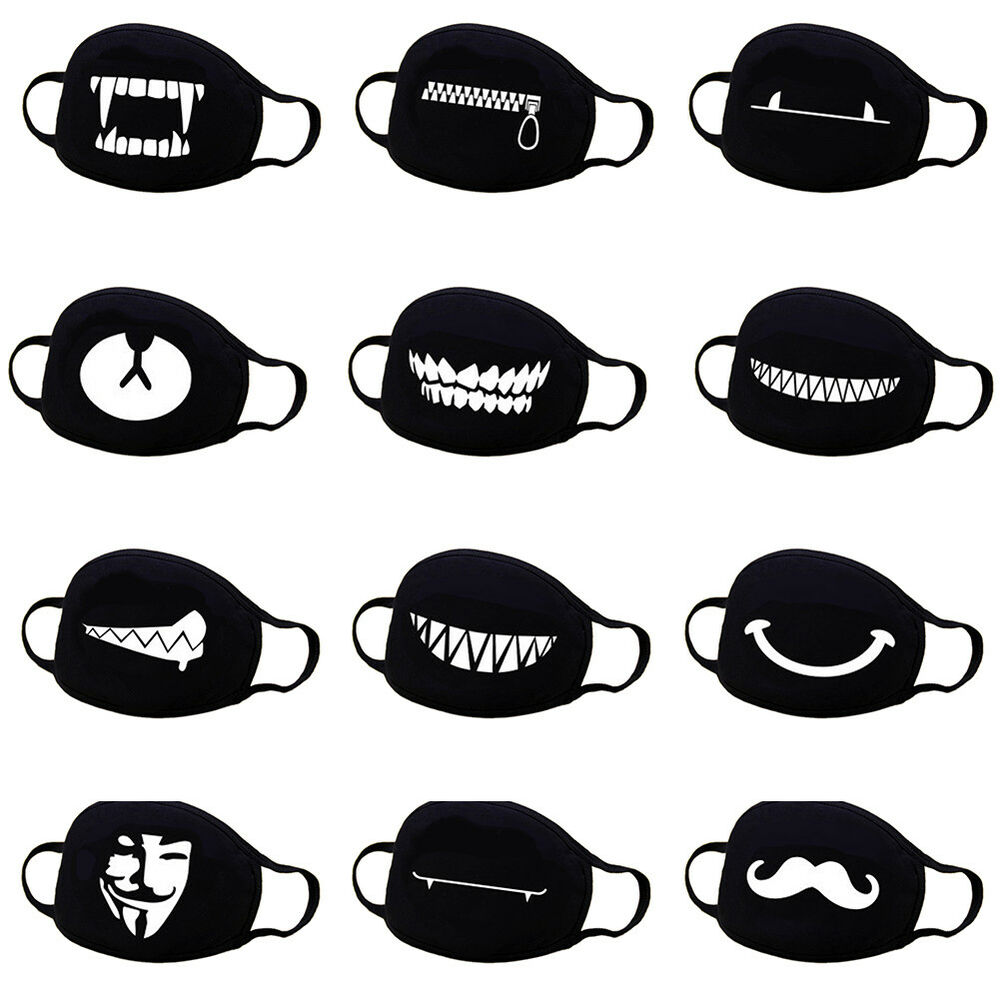 Details about mens womens cycling anti dust cotton mouth face mask respirator anime emoji au