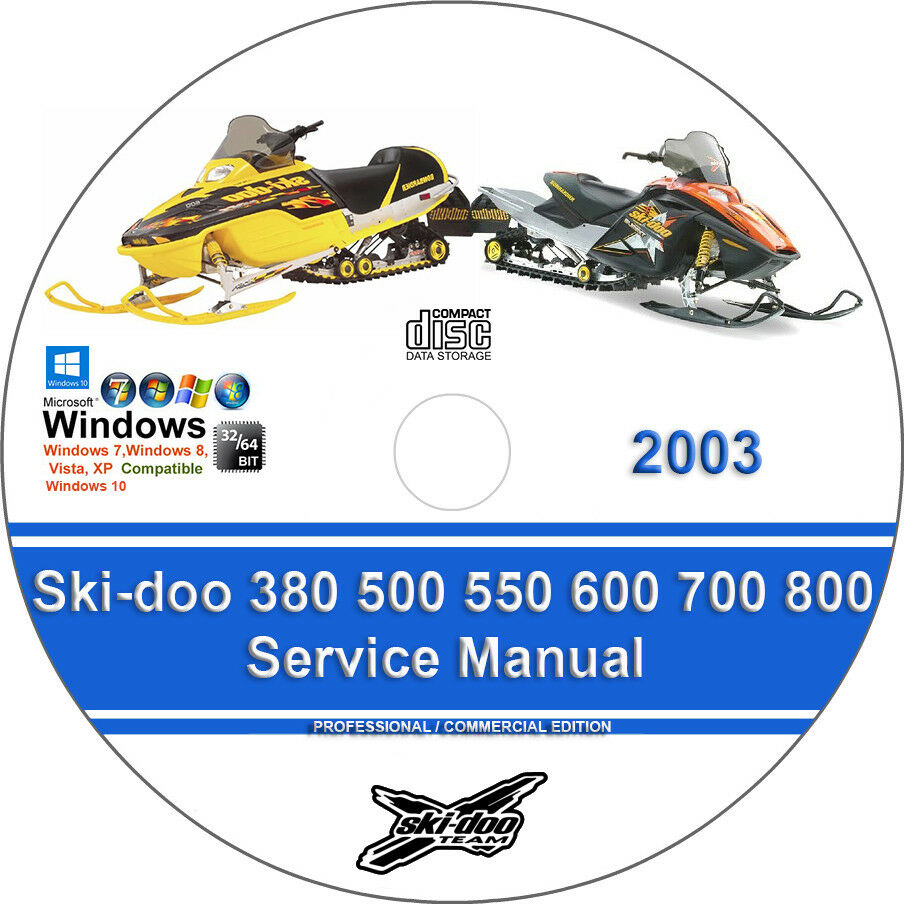 Ski-doo 380 500 550 600 700 800 2003 Factory Workshop Service Repair Manual  | eBay