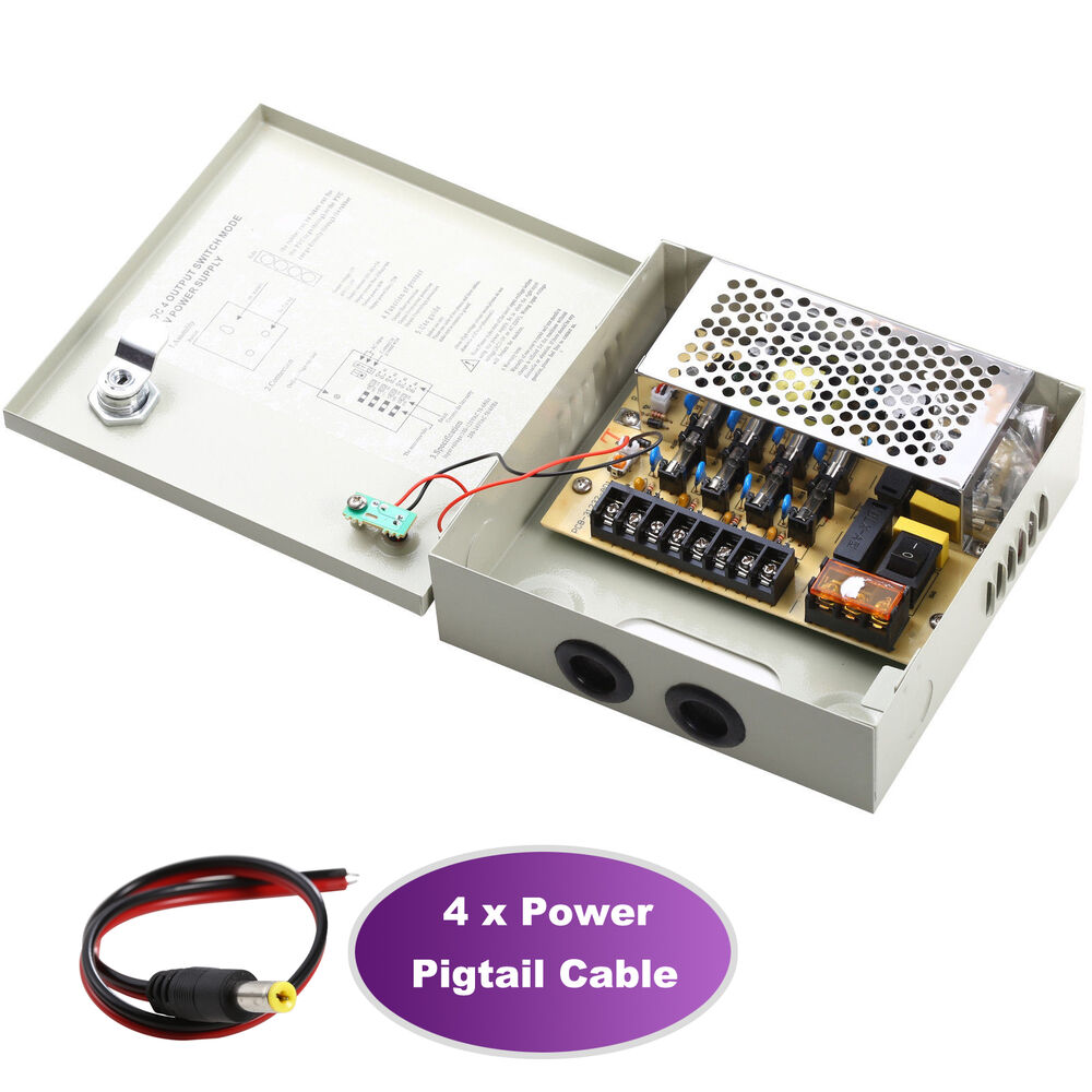 4ch Power Supply Box Distribution Cctv Camera Ptc Fuse 4 Ports Dc12v Adapter Max 5a 616010525763 Ebay