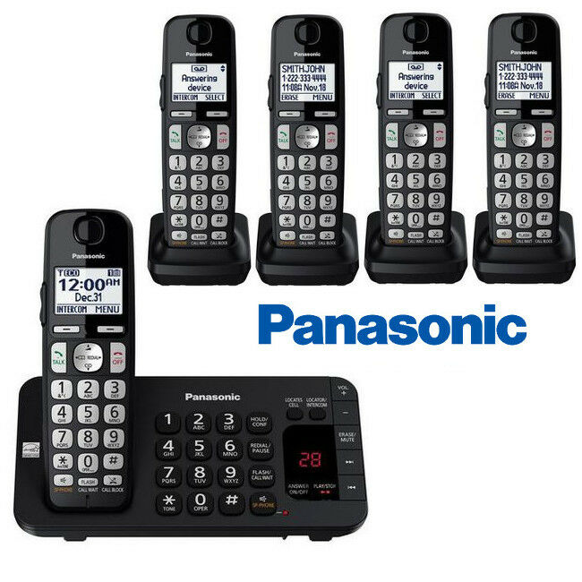 84b7a5e07 Details about Panasonic 5 Cordless Handsets Phone System Enhanced Noise  Reduction KX-TGE445B