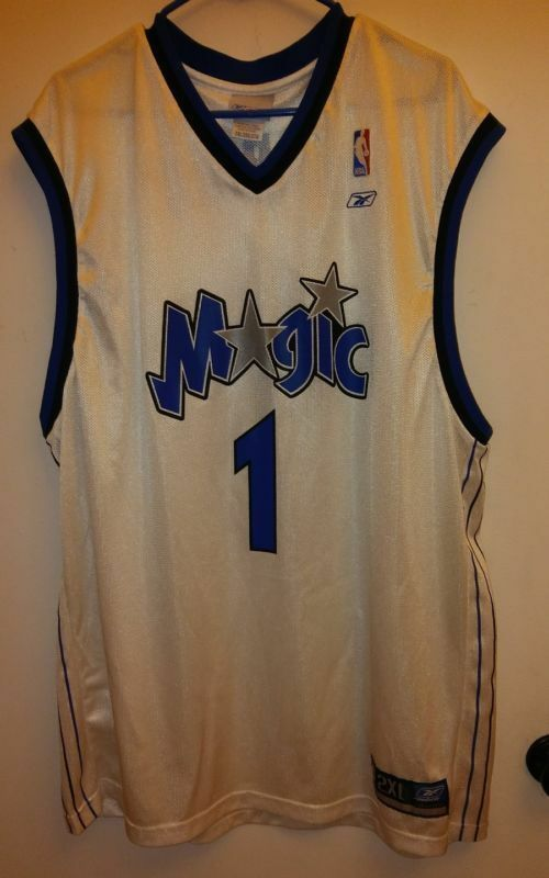 7f6741bf7 Rare Vintage 90s Reebok Tracy McGrady Orlando Magic  1 Jersey Mens Sz 2XL  NBA
