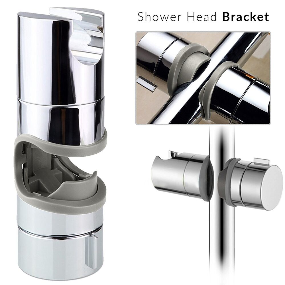 shower chrome adjustable riser rail bracket bar head holder kit bathroom modern ebay On bathroom riser