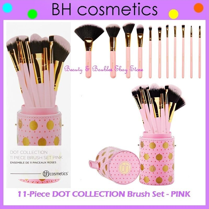 e41d257052e4 Détails   ❤ ⭐NEW BH Cosmetics😍🔥   PINK DOT COLLECTION Brush Set🎨💋11- Piece w Cup Holder