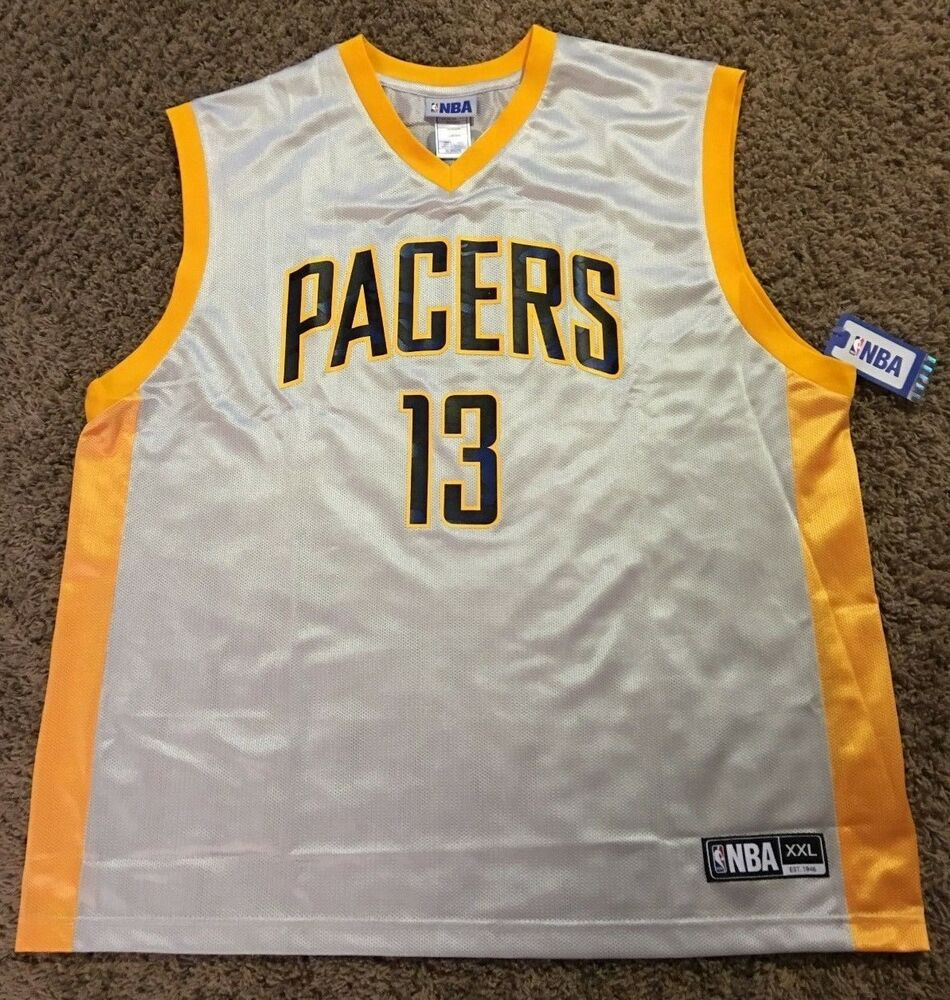 419421005 PAUL GEORGE INDIANA PACERS ADIDAS   NBA REPLICA BASKETBALL JERSEY MEN