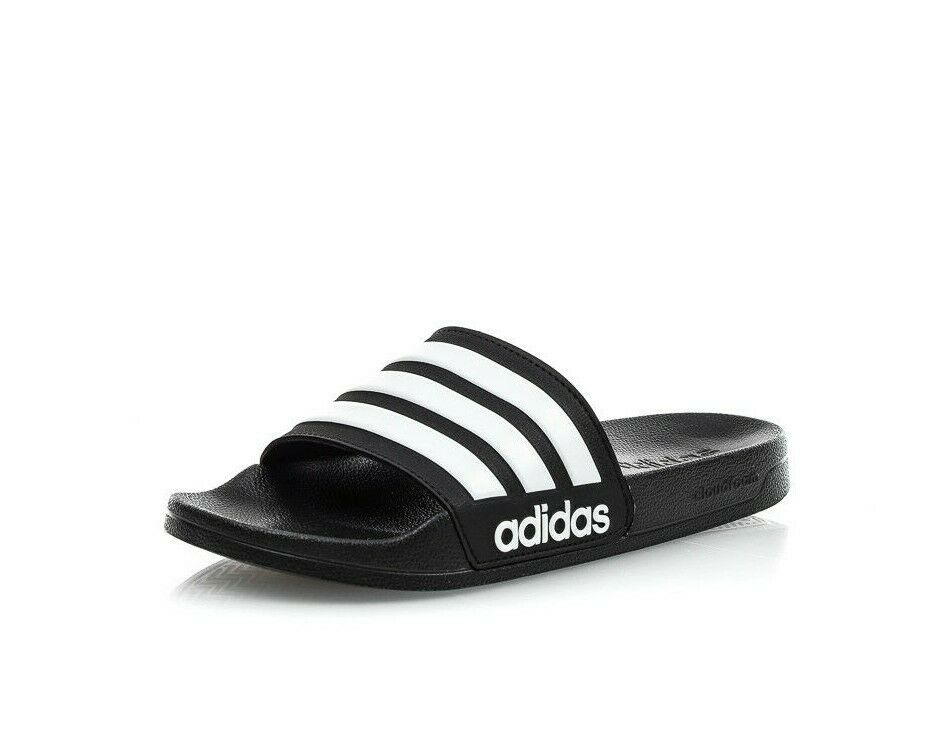 8753e3994 Details about Adidas CF Adilette Slides Sandal Slippers AQ1701 Black White  Free Shipping