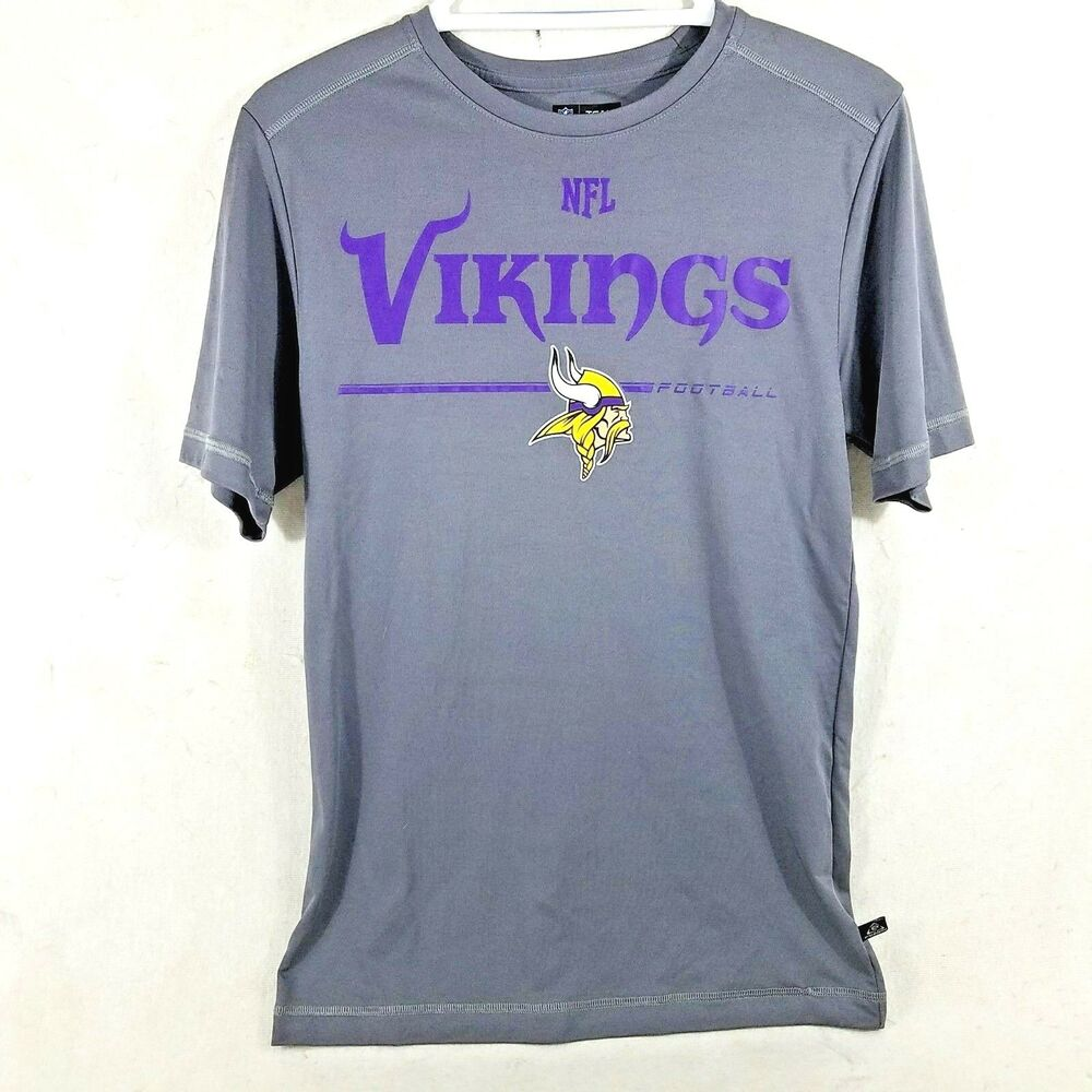Cheap NFL Team Apparel Minnesota Vikings Gray T Shirt Top Women's Size  free shipping