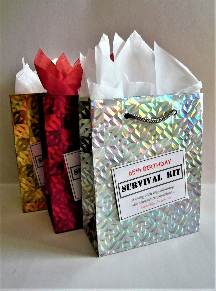 MALE 65th Birthday SURVIVAL KIT Humorous Gift Idea Unique Funny Novelty Present 3946119436590