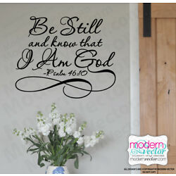 Be Still and know that I Am God Vinyl Wall Quote Decal Psalm 46:10 Religious