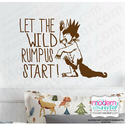 Where The Wild Things Are Quote Vinyl Wall Decal Sticker Wild Rumpus Start! MV2