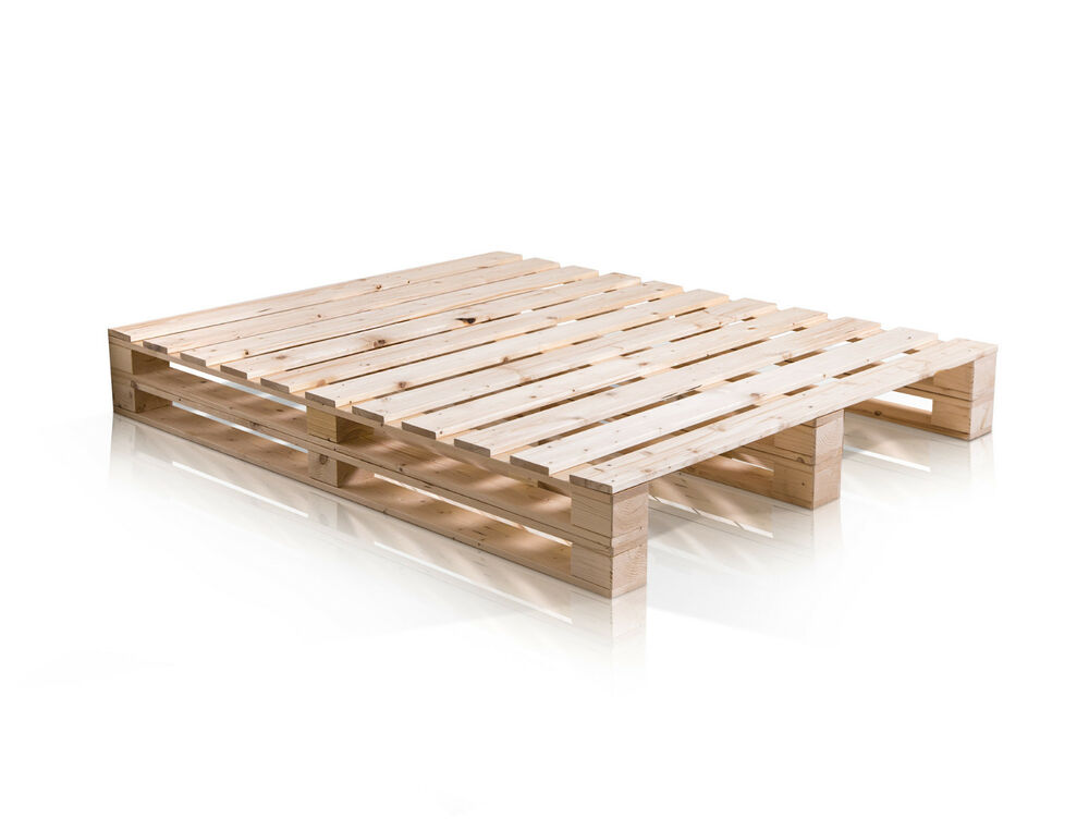 paletti duo futonbett massivholzbett jugend palettenbett fichte massivholz natur ebay. Black Bedroom Furniture Sets. Home Design Ideas