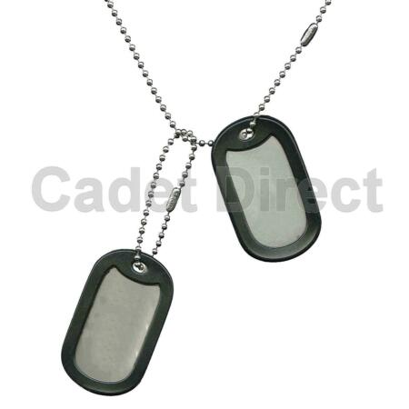 img-Military Spec Heavyweight Stainless Steel Dog Tags with Silencers