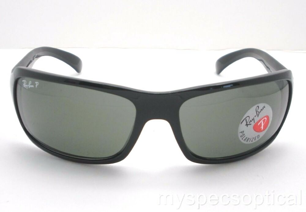 3de2d09880d Details about Ray Ban RB 4075 601 58 Polished Black Green Polarized New  Authentic
