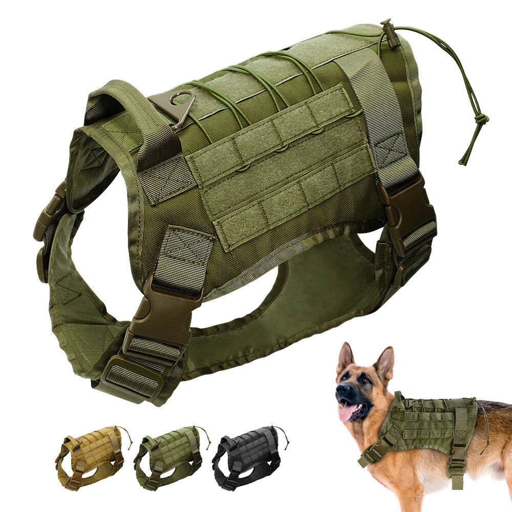 Tactical Military Big Dog Harness Large Dog Training Vest