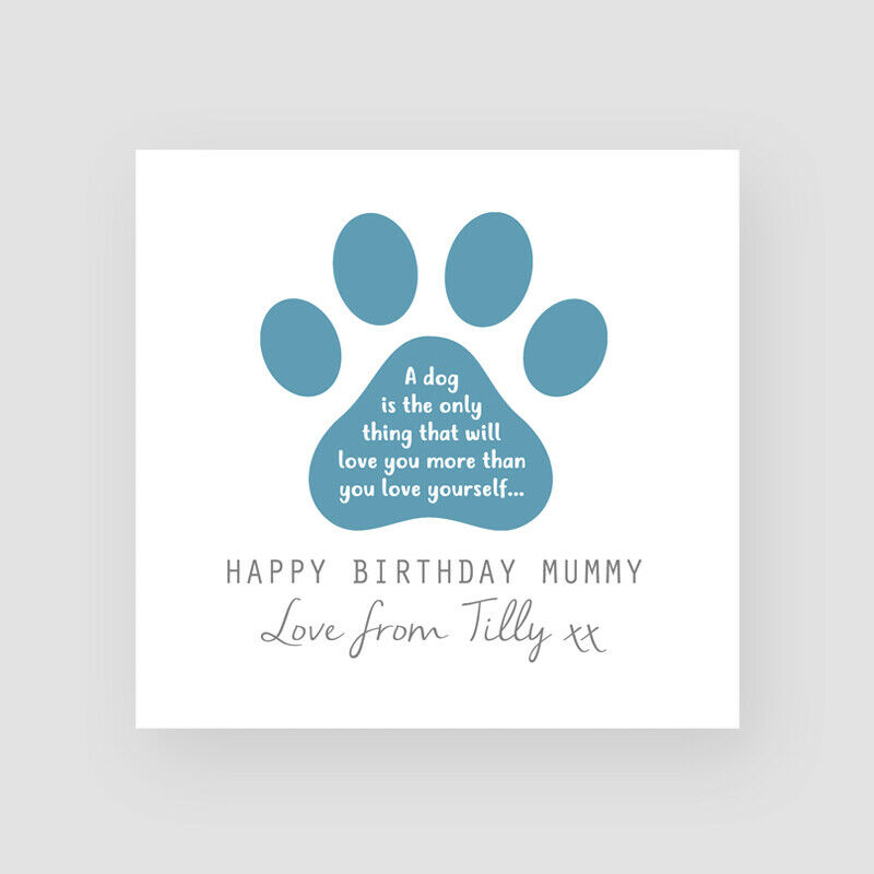 Details About Personalised Handmade Birthday Card From Dog Dogs