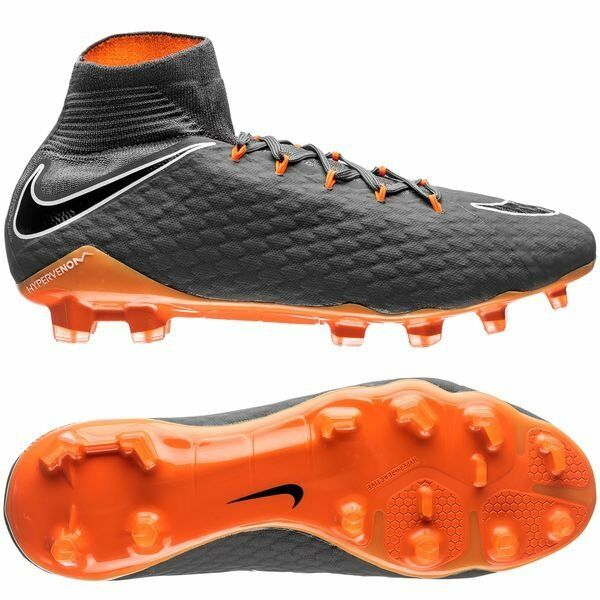 Details about Nike Hypervenom Phantom Pro III FG 2018 DF Nike Skin Soccer  Shoes Gray   Orange 4bd33bc845c4d