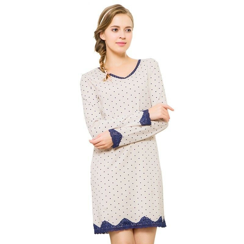 779a62bfe5 Details about Sleep Shirt Cotton Night Dress Pajama Tops Casual Nightie  Home-wear Summer dress