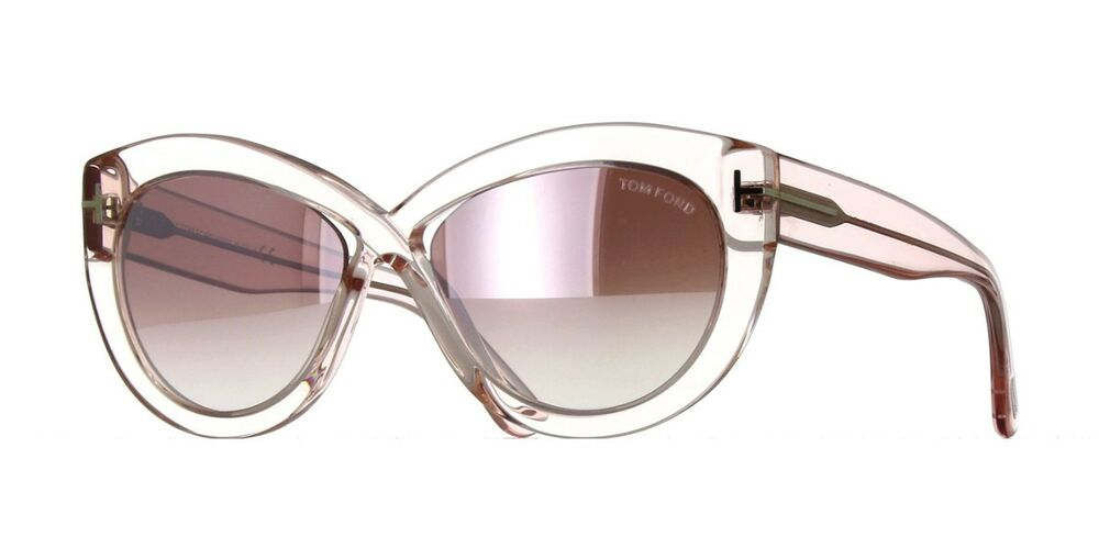 cf47056f31 Tom Ford DIANE-02 FT 0577 shiny pink purple shaded mirror (72Z A) Sunglasses  664689900480