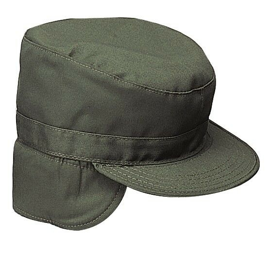 07697426477 Details about ARMY RANGER CAP OLIVE GREEN HIDDEN EAR FLAP Size Large 7 1 2  XLarge 7 3 4