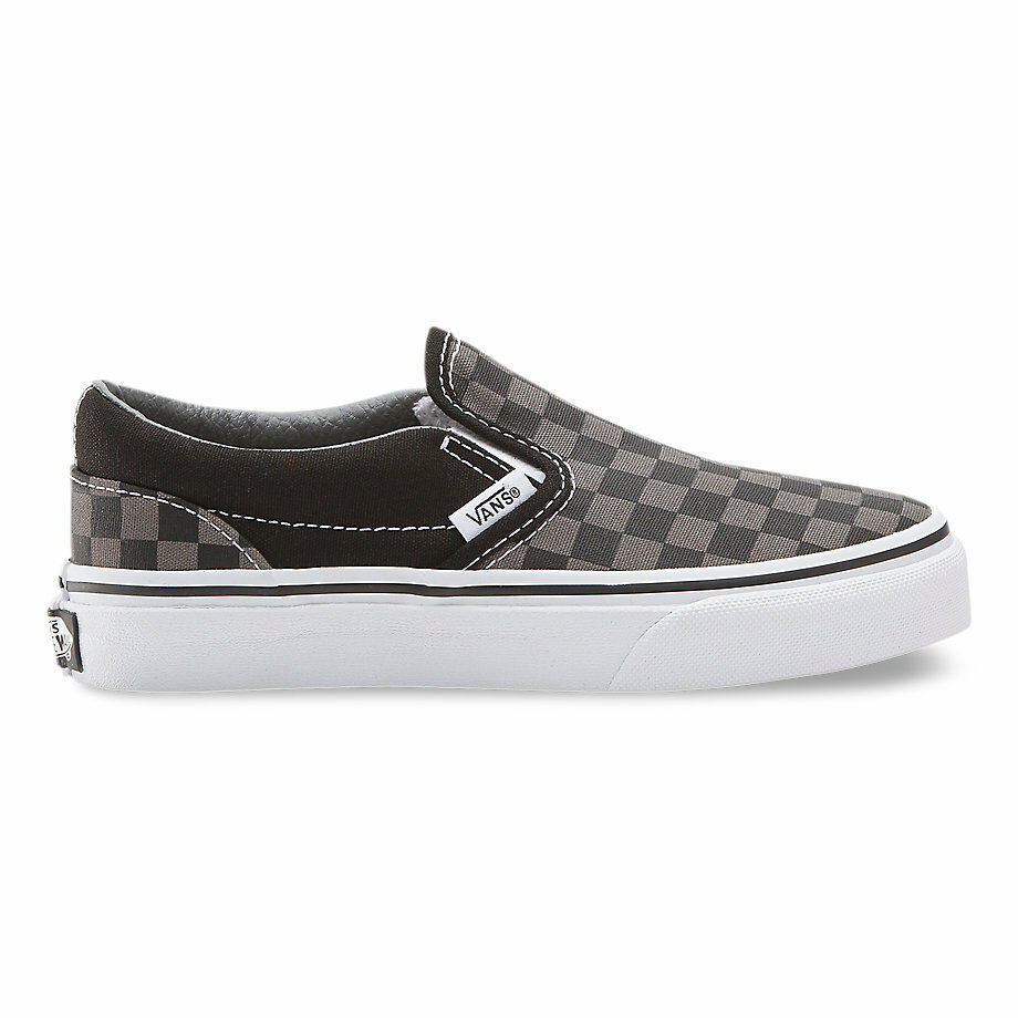 7340367cab4cd2 Details about VANS KIDS Classic Slip-On (Checkerboard) Black Pewter Size  11-4 Fast Shipping