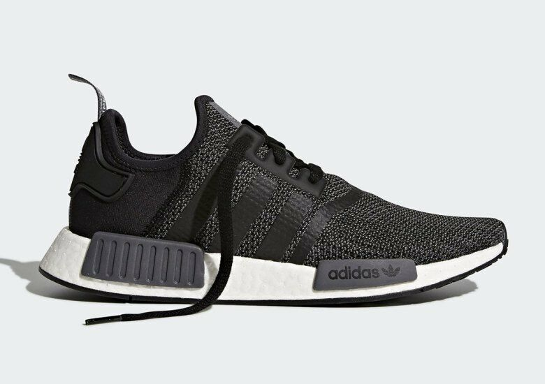 Adidas NMD R1 Nomad Runner Black Carbon Grey New Men Size 7.5-13 (B79758