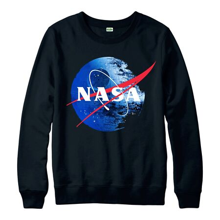 img-Star Wars Galactic Empire Jumper, NASA Death Star Logo Inspired Spoof Jumper Top