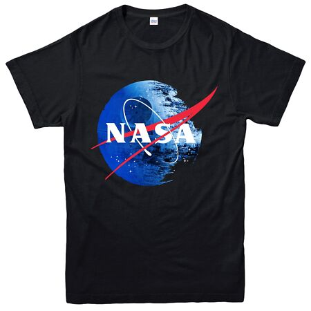 img-Star Wars Galactic Empire T-Shirt, NASA Death Logo Heather Grey Spoof Tee Top