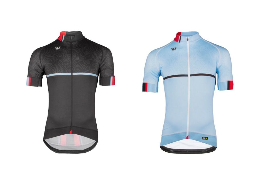 7e1ef4b21 Details about Vermarc Curve PRR Short Sleeve Cycling Jersey Blue Black RRP  £98.99