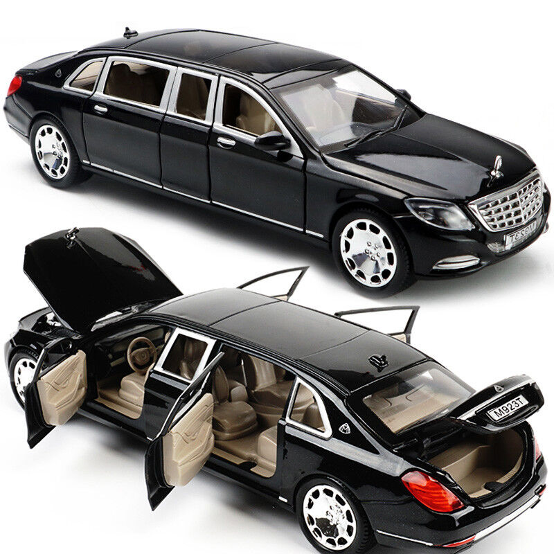1 24 Mercedes Maybach S600 Limousine Cast Metal Model Car New In Box Black 749882357825 Ebay