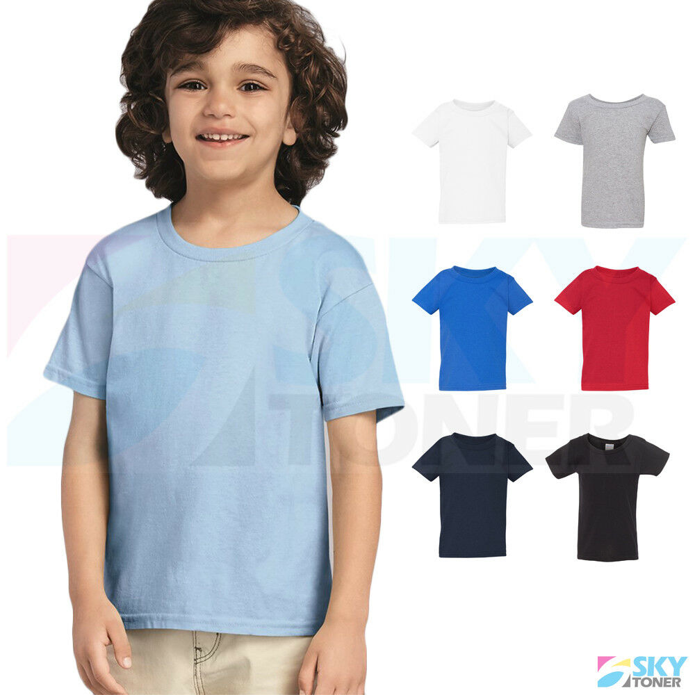 103d98fd Details about New! Gildan Heavy Cotton Toddler Kids Plain Short Sleeve T- Shirt 5100P