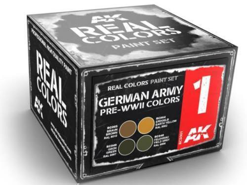 3 German Army Early WWII Colours AKRCS002 - AK Real Colours