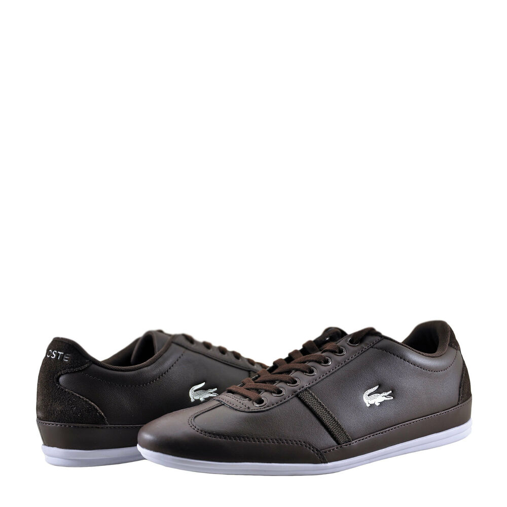 b19bcdbff Details about Men Shoe Lacoste Misano Sport 118 Lace Sneaker 35CAM1342A6  Dark Brown White New