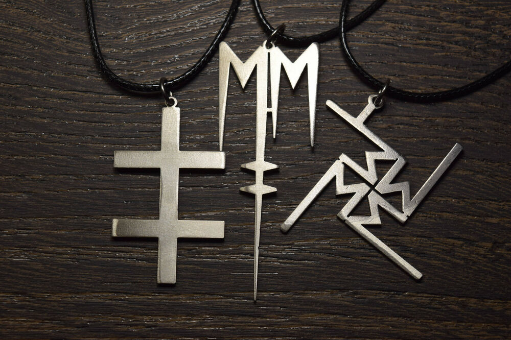 Marilyn Manson Heart Necklace Pendant Emblen Amulet Logo Symbol Pin