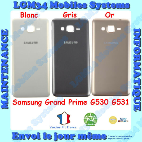 SAMSUNG GRAND PRIME G530 G531 COQUE ARRIERE BOITIER COUVERCLE CACHE BATTERIE