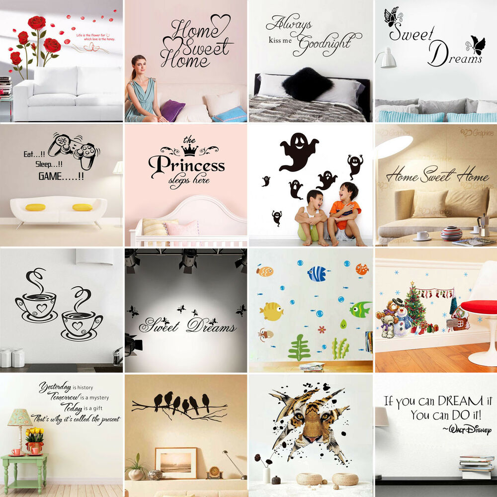 Adesivi murali frase adesivo wall stickers frasi for Decorazioni muro
