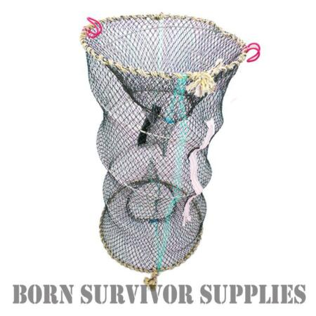 img-SURVIVAL FISHING CRAB NET - Folding Lobster Crayfish Pot Fish Trap Kit River Sea