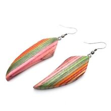 Wooden Earrings Multi Color Layered Wood Earring Fashion Jewelry