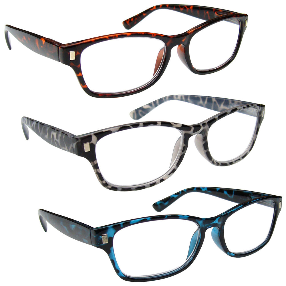 1.00 The Reading Glasses Company Brown Tortoiseshell Readers Mens Womens Spring Hinges R10-2