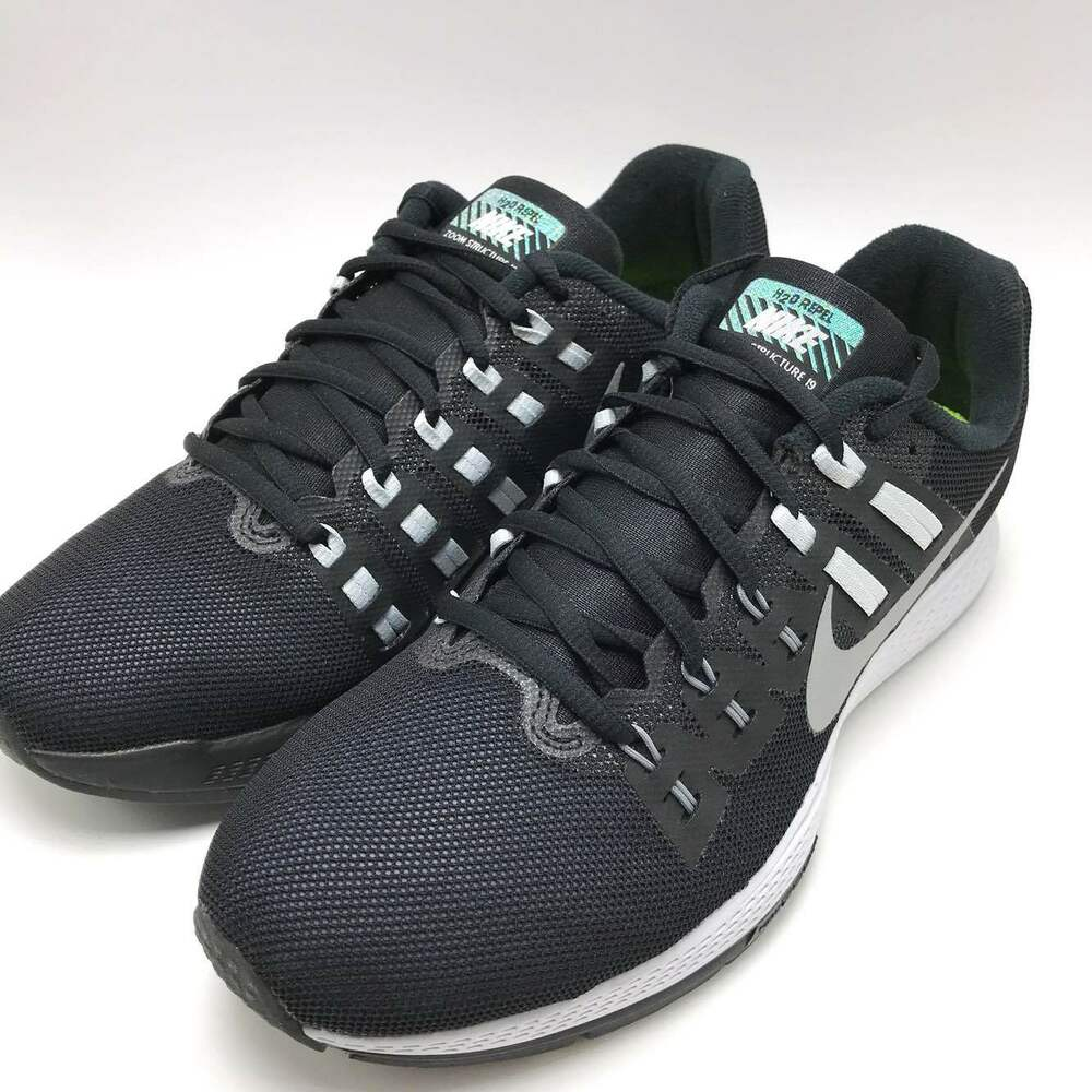 quality design f74c3 3a2bc Details about Nike Air Zoom Structure 19 Flash Black Silver-CL Grey Men s  Running 806578-001