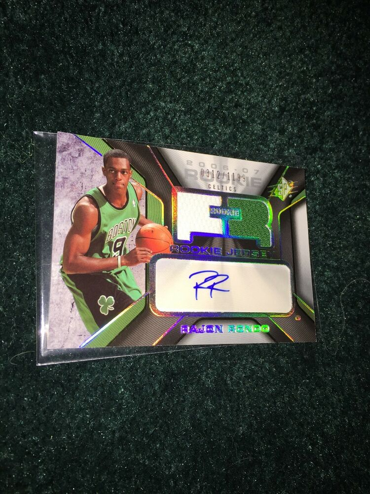 018ee1d73c9 Details about 06-07 Rajon Rondo UD SPX Rookie Auto Jersey #1199 NBA Champ,All  Star,All Defence