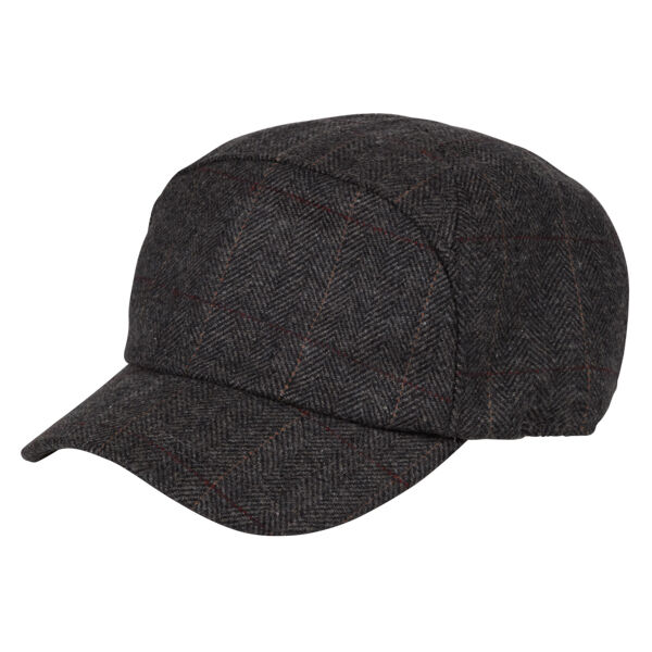 f9fc32655f3 Details about Heritage Traditions Womens Mens Grey Herringbone Tweed Skip  Cap Hat