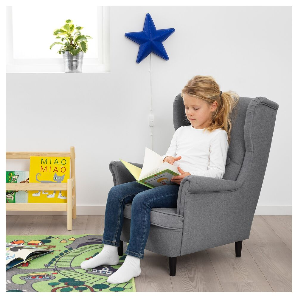 IKEA STRANDMON childrens armchair, kids bedroom living ...