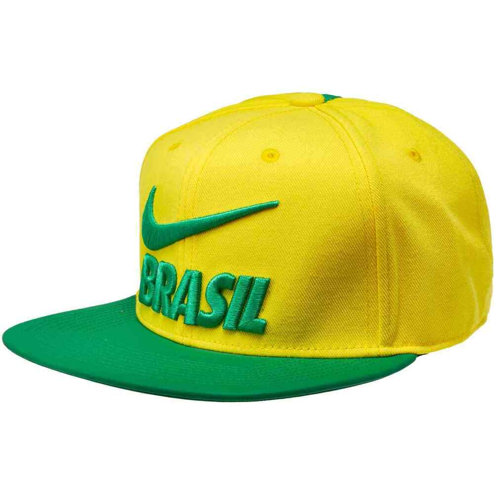 e5f2c1be45b Details about Nike Brazil Brasil WC World Cup 2018 Soccer Flat Brim  Adjustable Hat Cap Yellow