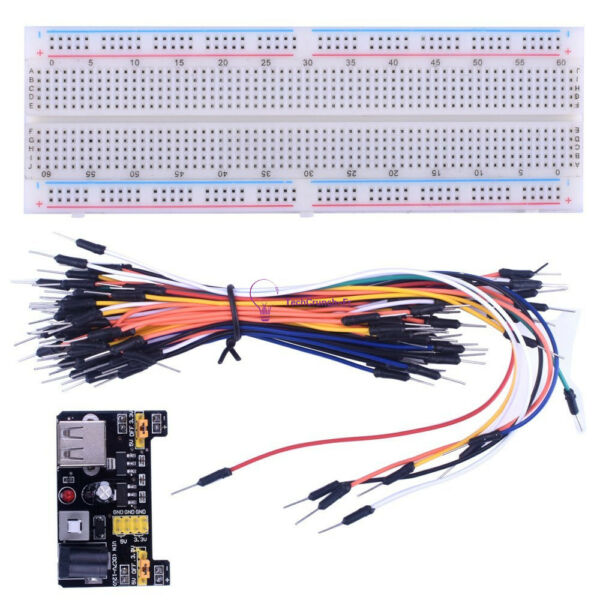 MB-102 Solderless Breadboard Protoboard 830 Tie Points 2 buses Test Circuit New
