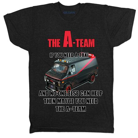 img-THE A TEAM VAN FUNNY MR T 80S RETRO MOVIE FILM TAXI SERVICE NERD T SHIRT